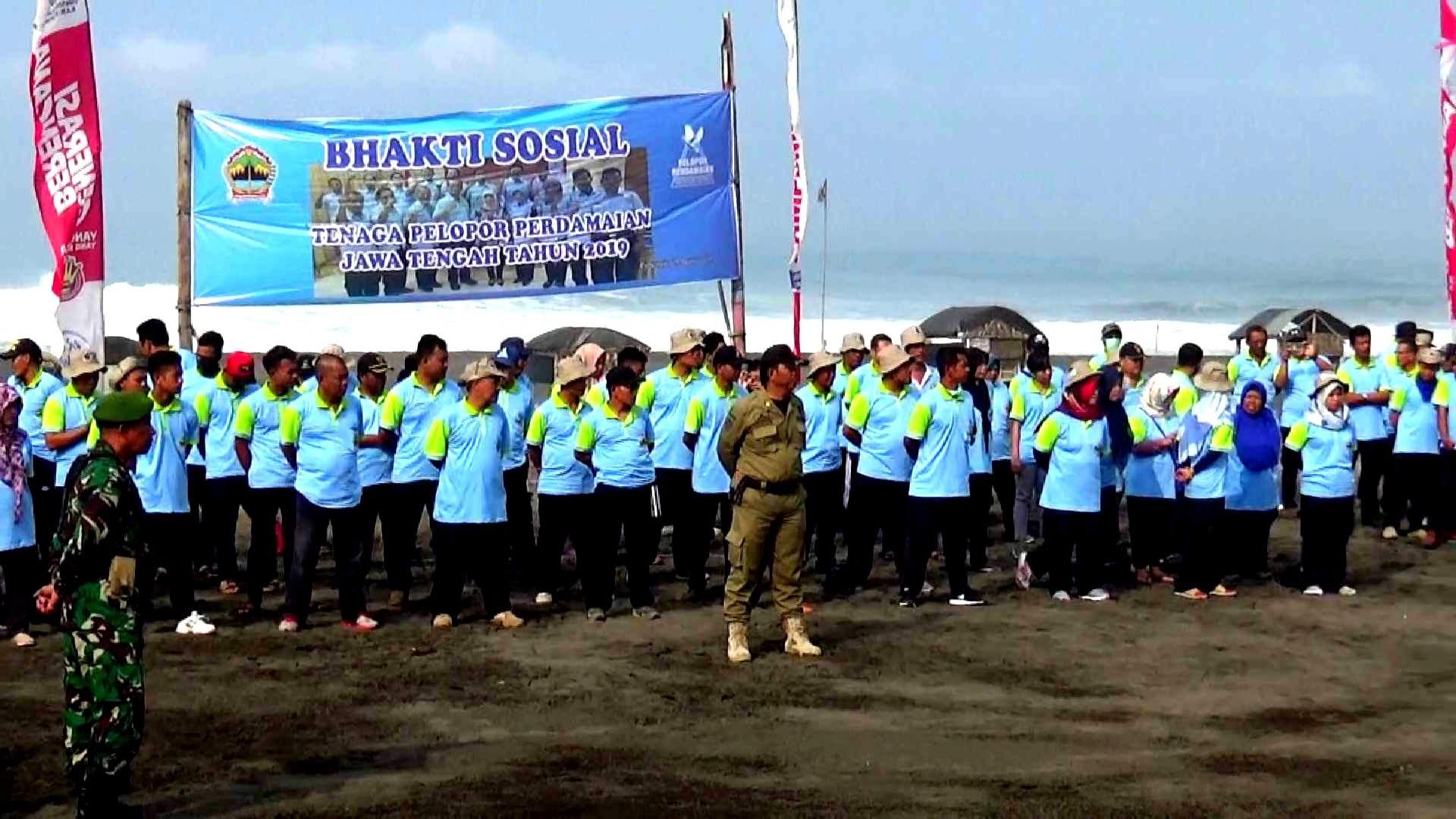 Apel Pagi Bersama Tenaga Pelopor Perdamaian Provinsi Jawa Tengah di Pantai Indah Ketawang